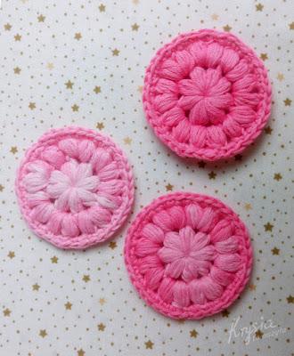 Krysia to uszyła - ekologiczne bawełniane waciki wielorazowe do demakijażu - różowe
