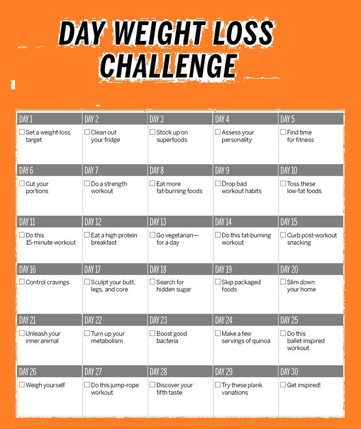 15 Day Weight Loss Challenge