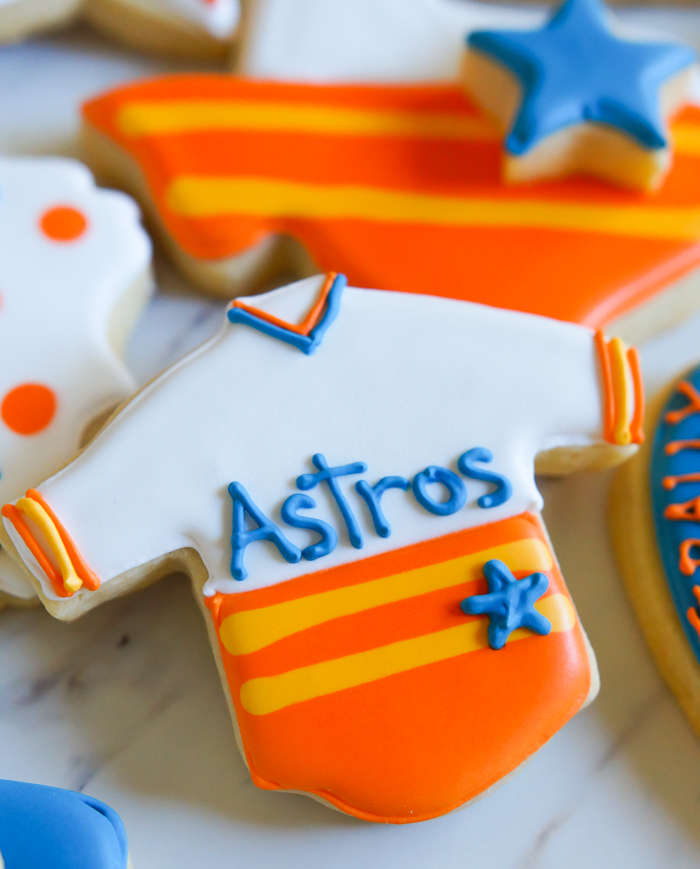 Houston Astros Cookies ♥ bakeat350.net