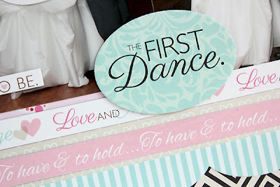 The First Dance Wedding Layout by Juliana Michaels for Bella Blvd