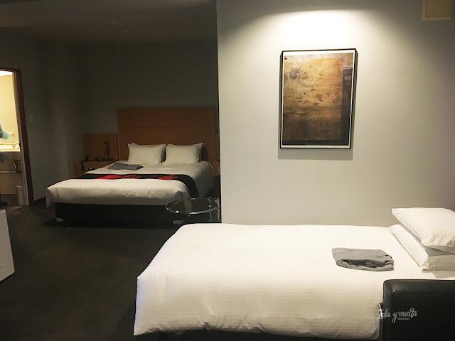 Las dos camas de nuestro cuarto