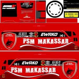 Livery SHD PSM Makassar Biasa Bussid