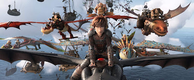 Hiccup riding Toothless How to Train Your Dragon: The Hidden World 2019 movie still