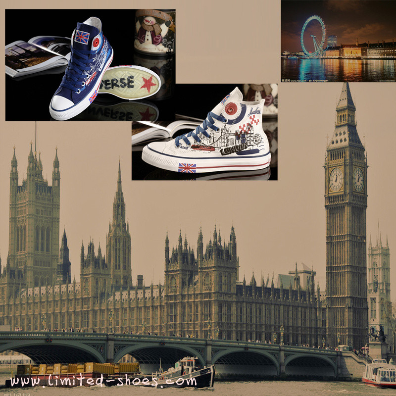19dac1636633 2012 Olympic converse London bus shoes and London architecture Olympic  shoes are very popular in the august.