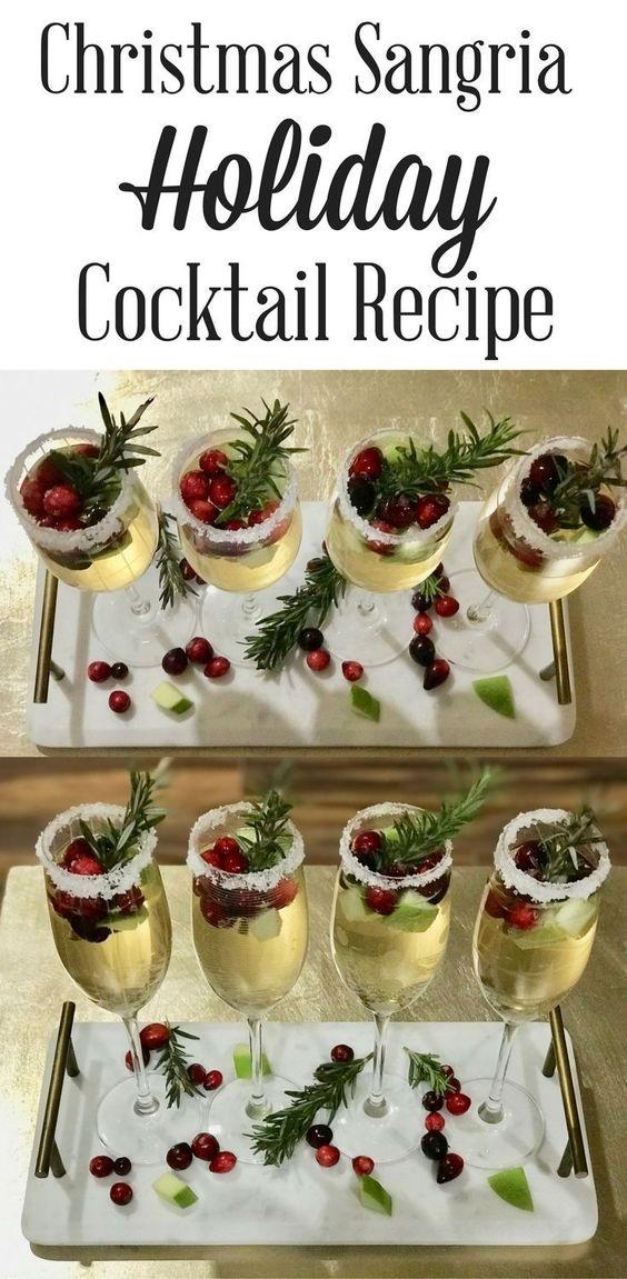 Christmas Sangria Cocktail