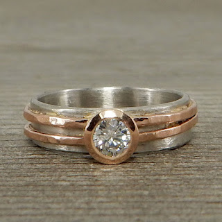 moissanite asymmetrical ring