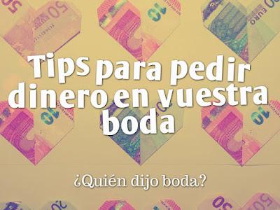 Tips para pedir dinero en vuestra boda