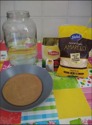 ingredientes necessários para preparação da kombucha