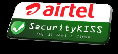 airtel + SecurityKISS logo www.nkworld4u.com