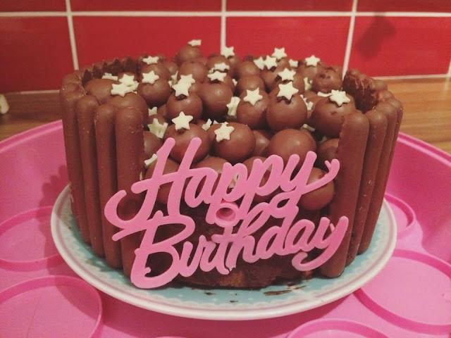 birthday cake, chocolate