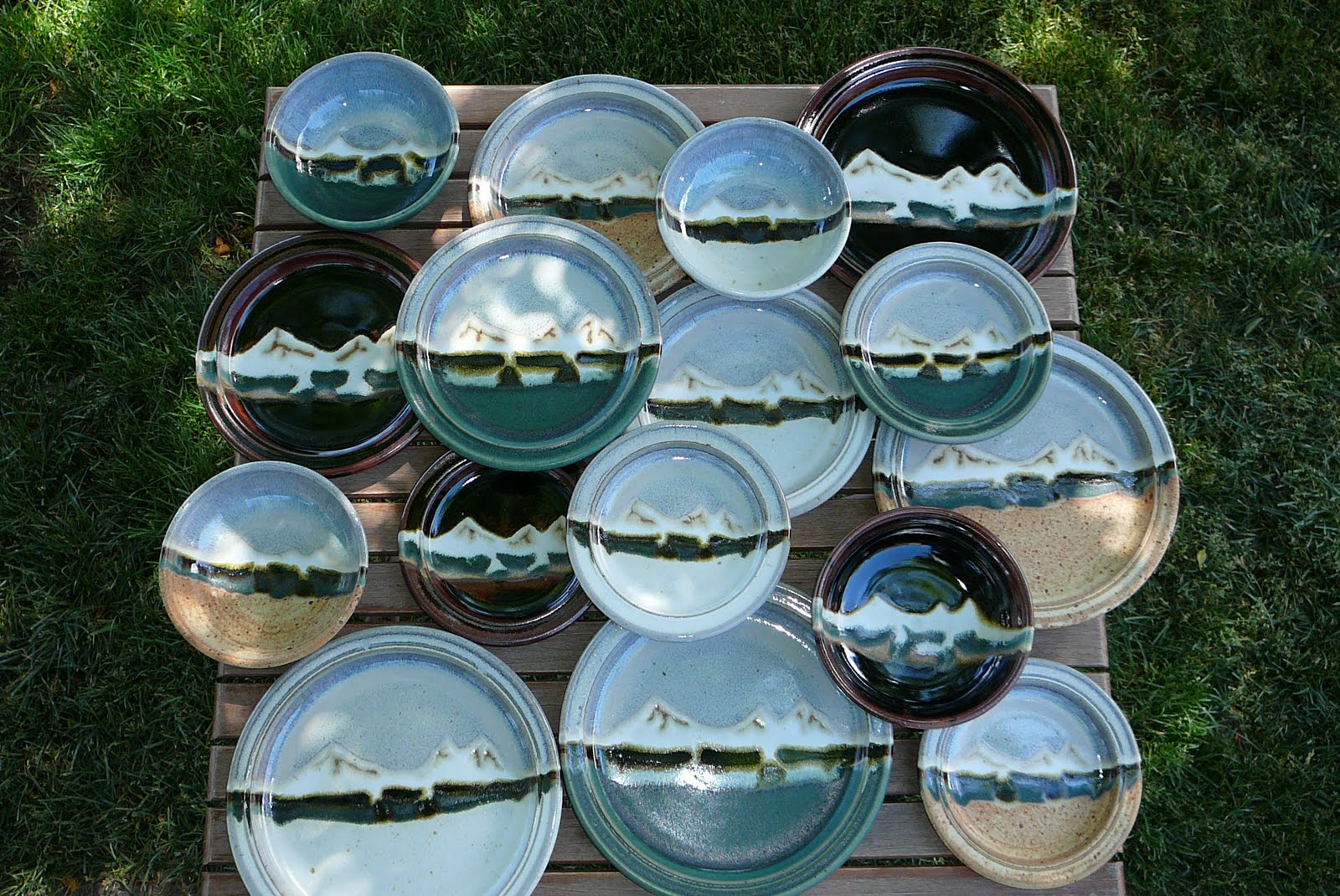 Canyon Creek Pottery: Three Sisters Mountain Dinnerware