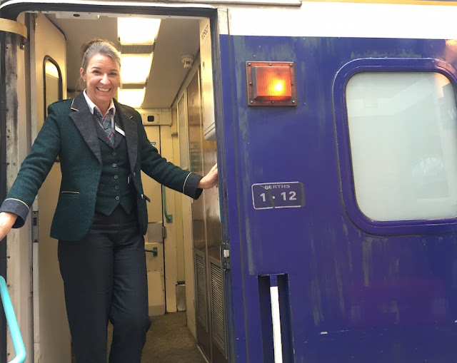Caledonian Sleeper train - friendly staff