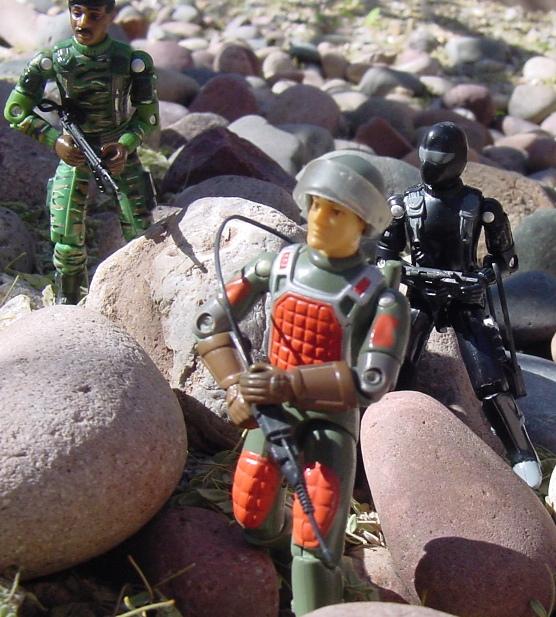 1983 Flash, Laser Trooper, 1997 Stalker, Snake Eyes