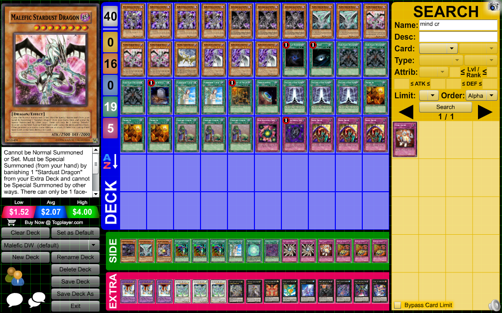 The Deck Of Many Things Yu Gi Oh Deck Profile Malefic