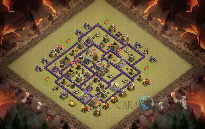 Base War TH 8 di Clash Of Clans Terbaru 2017 Tipe 4