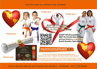 donate for martial arts children only 5 Dollar