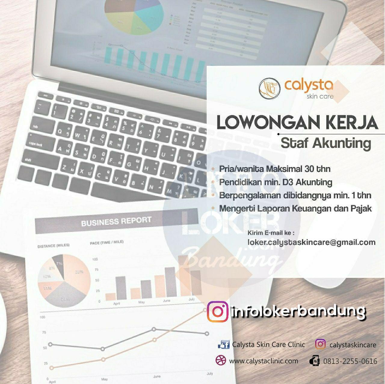 Lowongan Kerja Calysta Skin Care Bandung April 2018