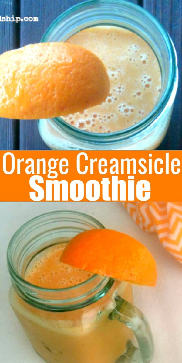 Orange Creamsicle Smoothie will become your favorite Orange Smoothie Recipe! It tastes just like Orange Creamsicle Ice Cream! Guest post from Practical-Stewardship.
