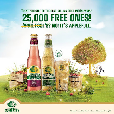 Somersby Malaysia Free Apple Cider Alcoholic Beverage