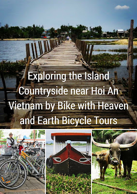 Exploring the Island Countryside near Hoi An Vietnam by Bike with Heaven and Earth Bicycle Tours
