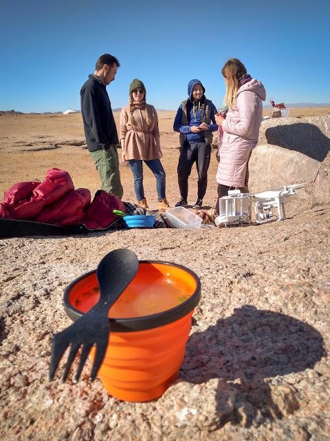 With Jules, Vadim & Elena at Lake Achit, Mongolia