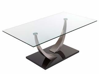 mesa centro metal y cristal