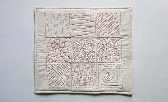 Sample from a Free Motion Machine Quilting Class