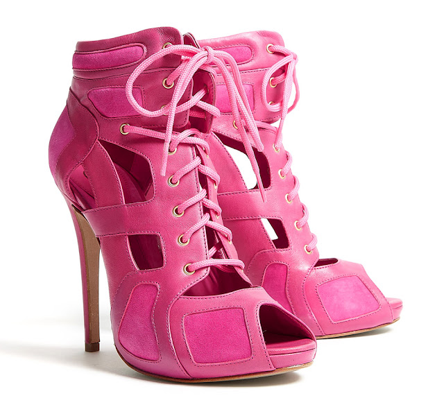 McQ Alexander McQueen hot pink cut out sandals