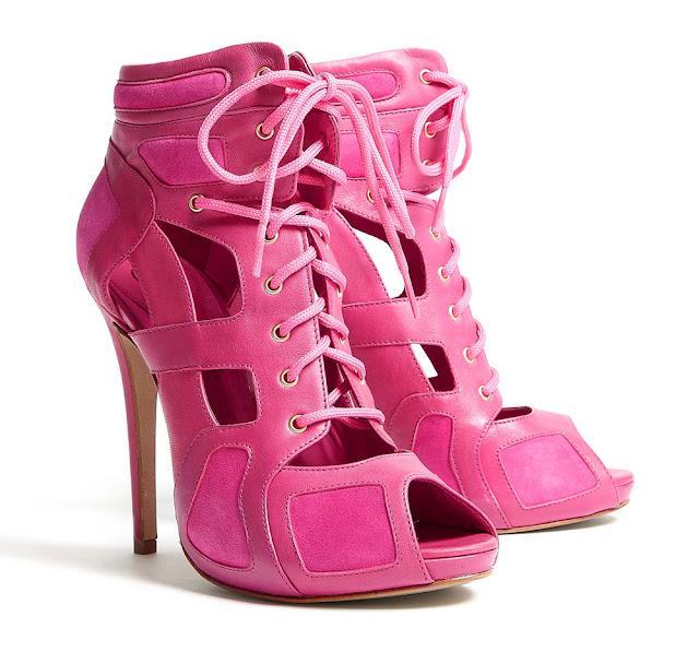 McQ Alexander McQueen hot pink cut out sandals