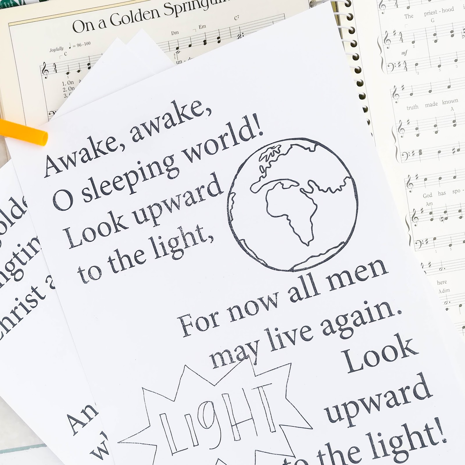 A Lively Hope 2018 Lds Primary Music Flipcharts All The Welcome