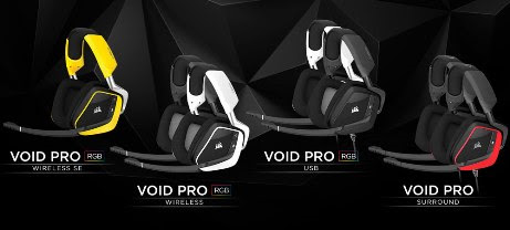 Go Deeper into The Void - CORSAIR Announces New Lineup of  VOID PRO Gaming Headsets