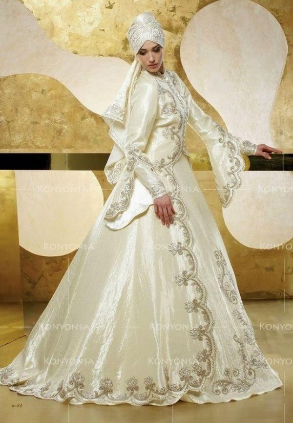 32 Inspirasi Model Baju Pengantin Muslimah Modern Masa Kini ... c9ecb09ef6