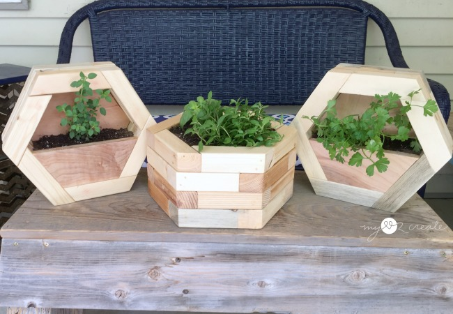 DIY Hexagon Planters, MyLove2Create