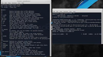 Jika sudah terinstall pada server, selanjnutnya ketikkan perintah screen -h untuk melihat opsi bantuan