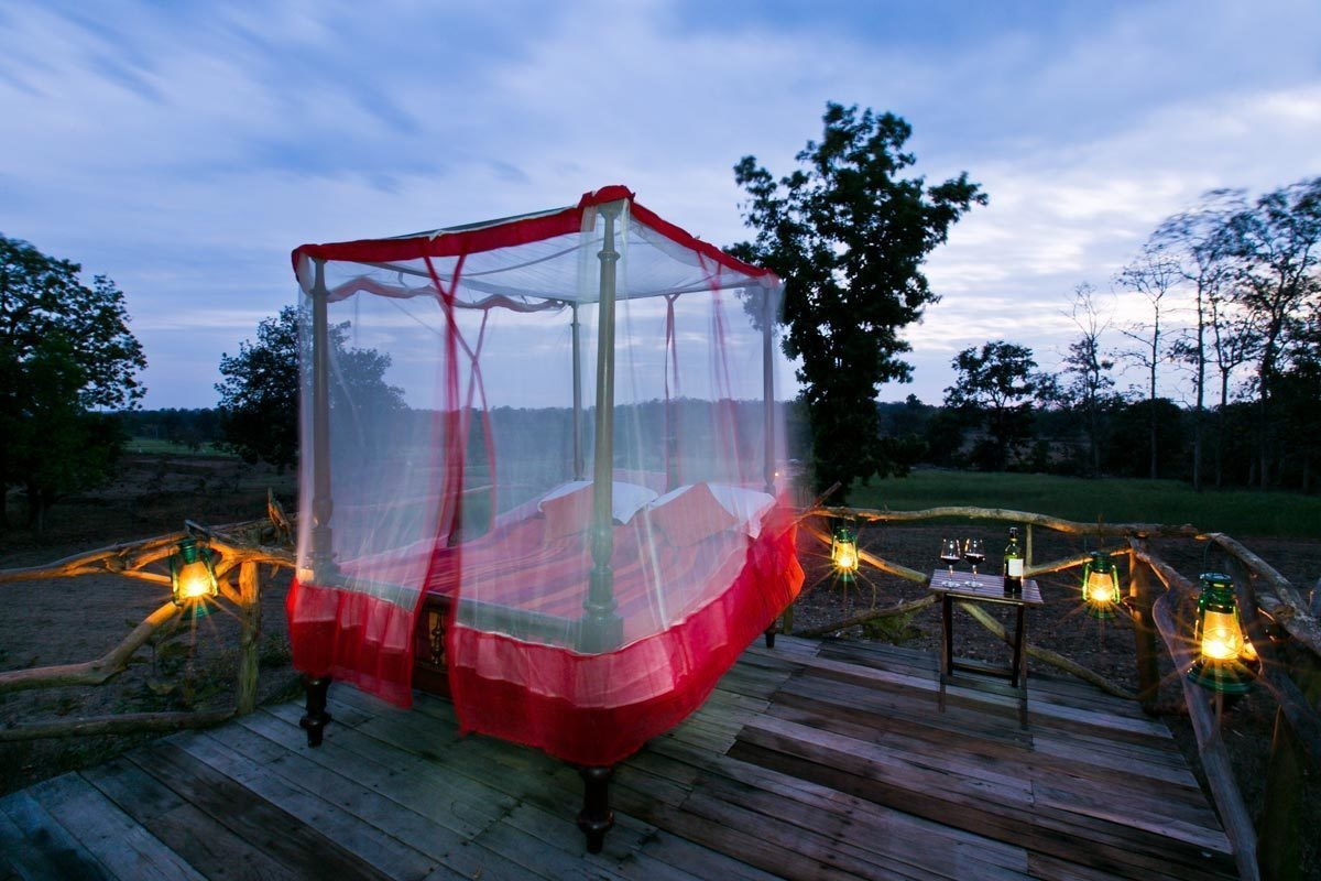 Jamtara Wilderness Camp, Pench, India - 15 Incredible Hotel Rooms Where You Can Sleep Under The Stars.