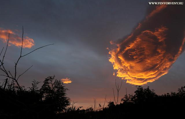 """""""Tűzlabda"""" felhő formáció Madeira felett"""