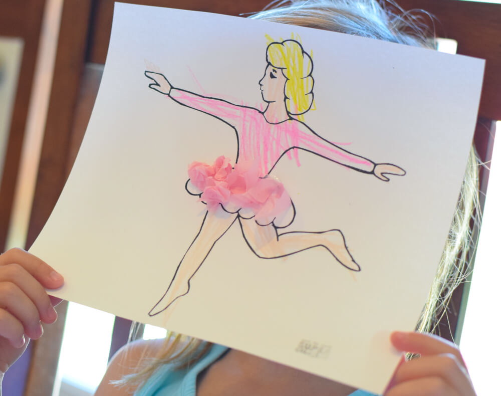 Beautiful Ballerina Craft What Can We Do With Paper And Glue