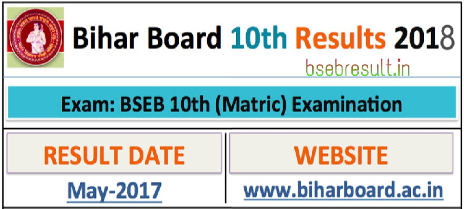 Big News: BSEB Result 2018, BSEB Matric Class 10 Result Will