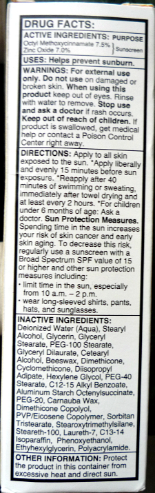 OZ Naturals Age Defying Solar Shield SPF30 review: ingredients