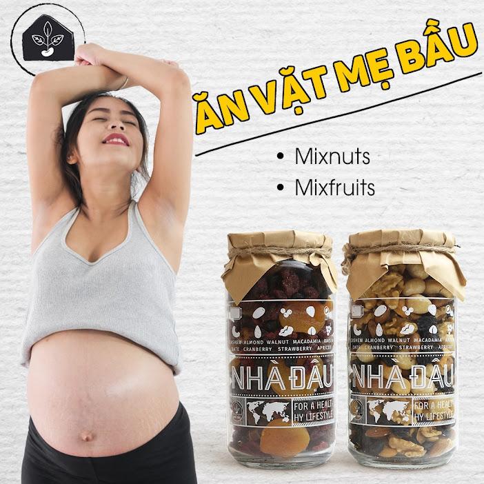 Gợi ý món ăn vặt an toàn, bổ dưỡng cho Mẹ Bầu tháng cuối
