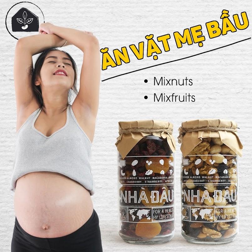 Mang thai tháng đầu nên lựa chọn đồ ăn vặt nào?