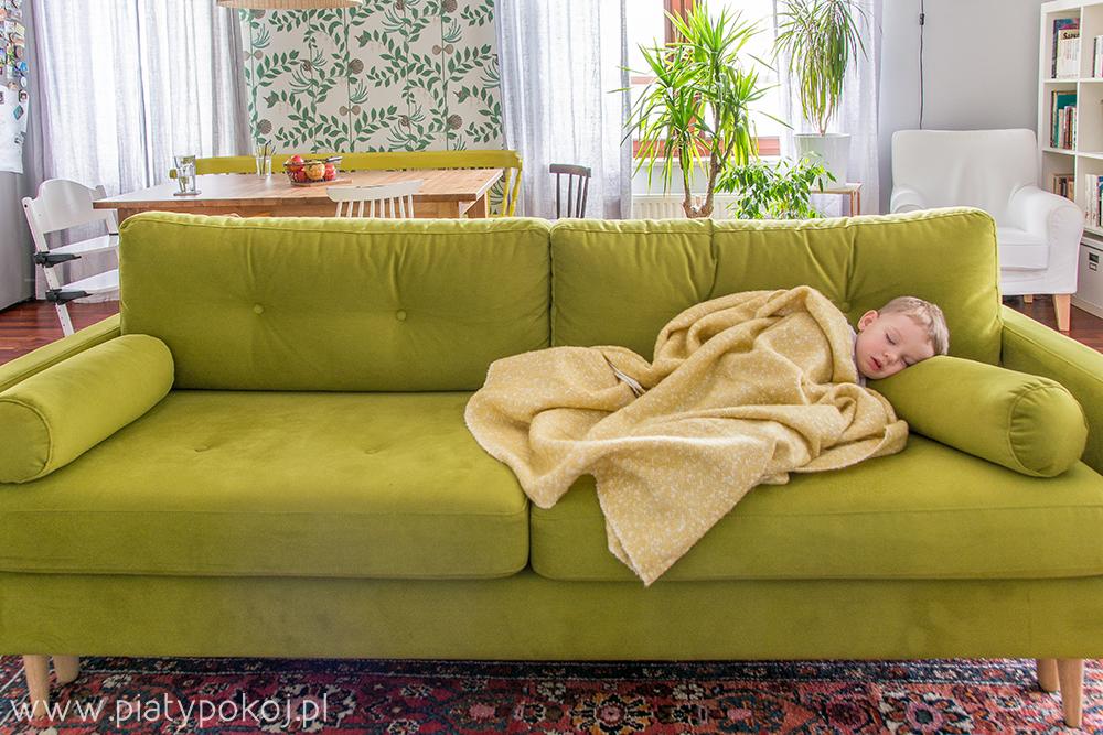 zielona sofa