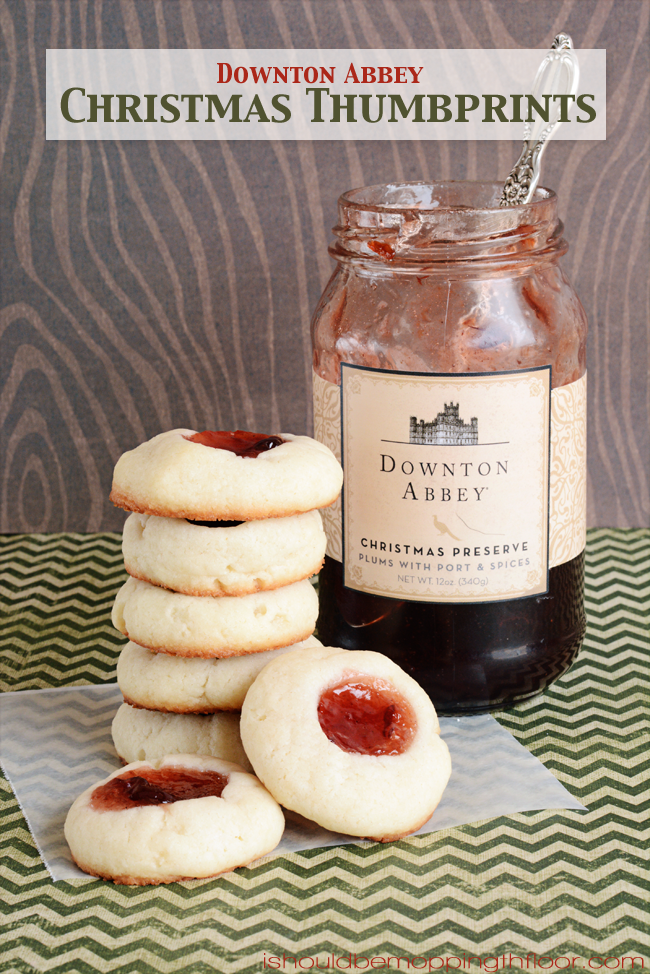 Downton Abbey Christmas Thumbprint Cookies