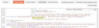 cara mempatkan code di edit html blog