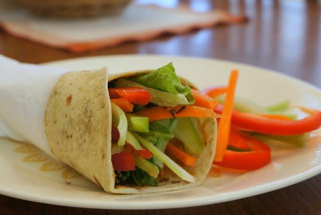 Thai Inspired Veggie Wrap