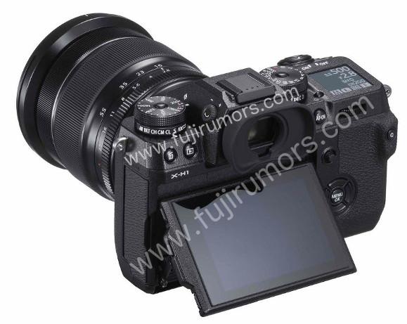 Fujifilm X-H1, вид сзади
