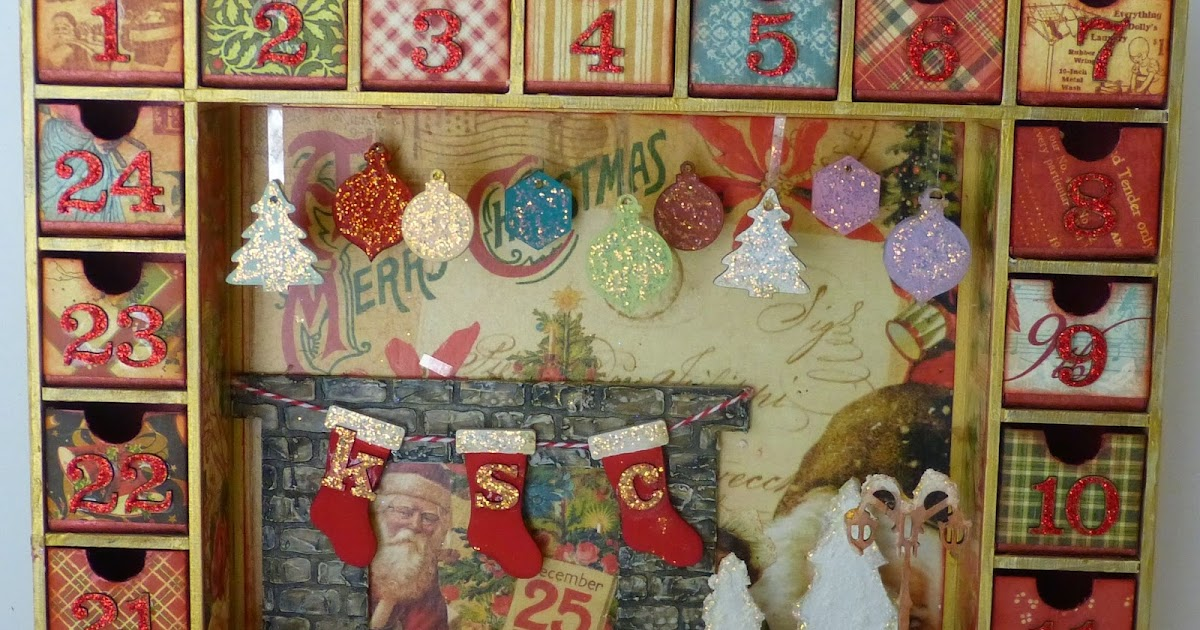 SaCrafters: Altered Advent Calendar Shadow Box