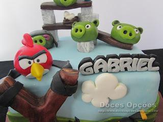 Bolo de aniversário Angry Birds doces opções bragança