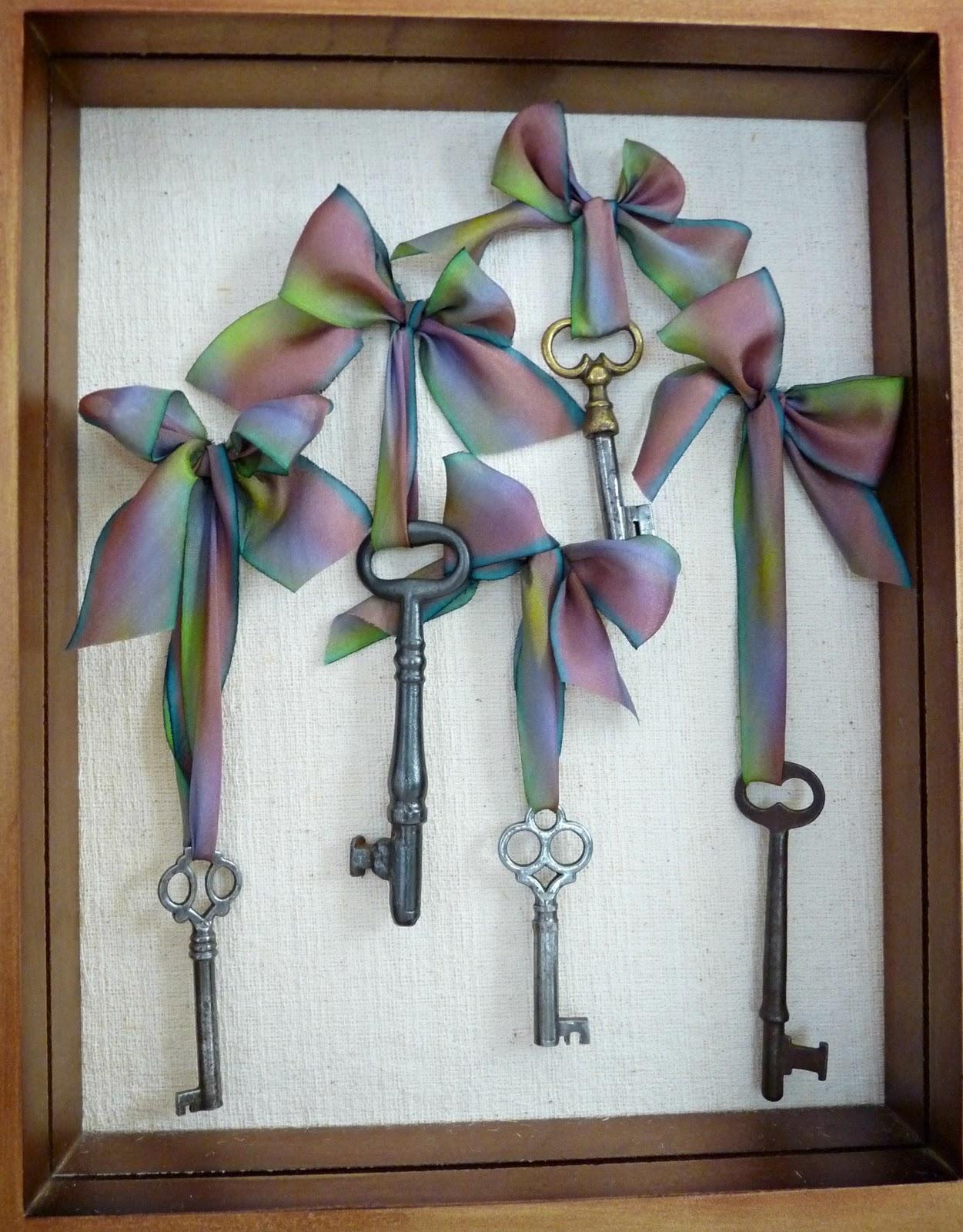 Frame vintage skeleton keys for display
