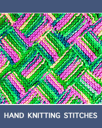 Learn Garter Entrelac Pattern with our easy to follow instructions at HandKnittingStitches.com